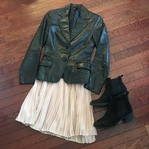 🆕 Zara Basics Black Leather Jacket